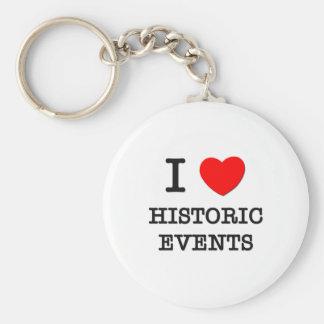Amo acontecimientos históricos llavero redondo tipo pin