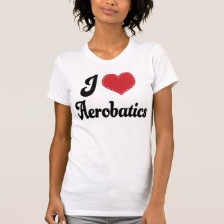 Amo acrobacias aéreas (del corazón) camisetas