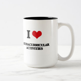 Amo ACTIVIDADES EXTRACURRICULARES Taza Dos Tonos