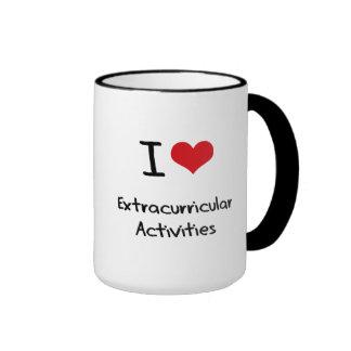 Amo actividades extracurriculares tazas de café