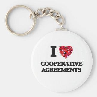 Amo acuerdos cooperativos llavero redondo tipo pin