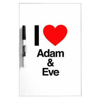 amo Adán y Eva Tableros Blancos