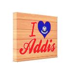 Amo Addis, Luisiana Lienzo Envuelto Para Galerias