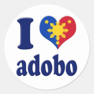 Amo Adobong Pinoy Pegatina Redonda