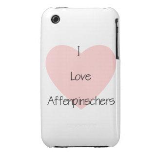 Amo Affenpinschers (2) iPhone 3 Carcasas