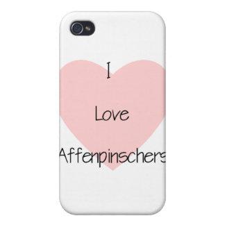Amo Affenpinschers (2) iPhone 4 Carcasas