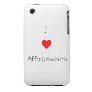 Amo Affenpinschers iPhone 3 Cobertura