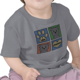 Amo Affenpinschers Camisetas