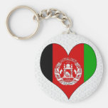 Amo Afganistán Llaveros Personalizados