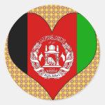 Amo Afganistán Pegatina Redonda