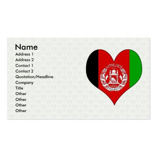 Amo Afganistán Tarjetas De Visita