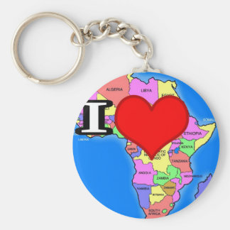 Amo África Llavero Redondo Tipo Pin