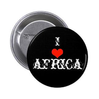 Amo África Pin Redondo De 2 Pulgadas