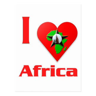 Amo África Tarjeta Postal
