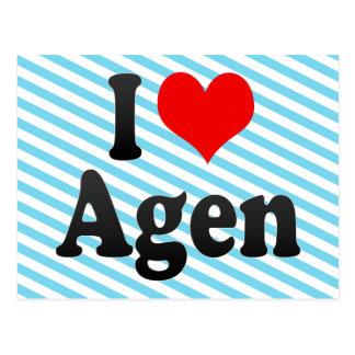 Amo Agen, Francia. J'Ai L'Amour Agen, Francia Tarjeta Postal