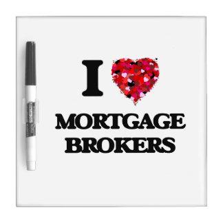 Amo agentes de hipoteca pizarras