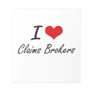 Amo agentes de las demandas bloc de papel