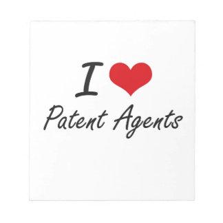 Amo agentes de patente blocs