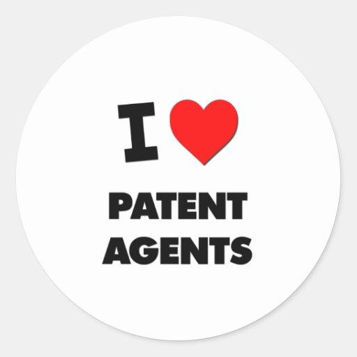 Amo agentes de patente pegatina redonda