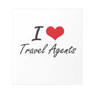 Amo agentes de viajes blocs de notas