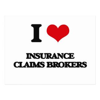 Amo agentes del crédito de seguro tarjetas postales