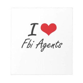 Amo agentes del FBI Bloc De Notas