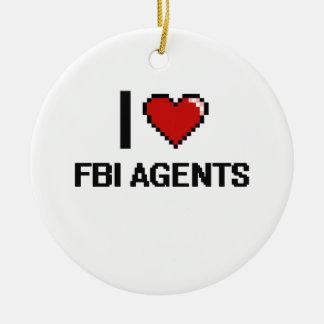 Amo agentes del FBI Adorno Redondo De Cerámica
