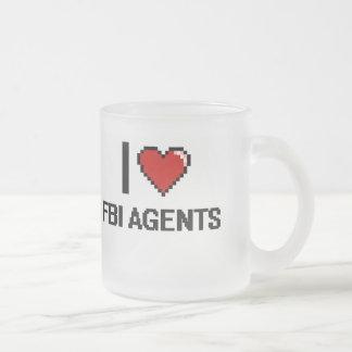Amo agentes del FBI Taza Cristal Mate
