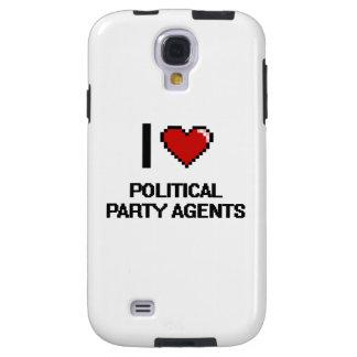 Amo agentes del fiesta político funda para galaxy s4