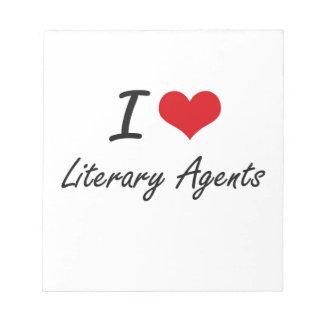 Amo agentes literarios blocs de notas