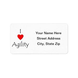 Amo agilidad etiquetas de dirección