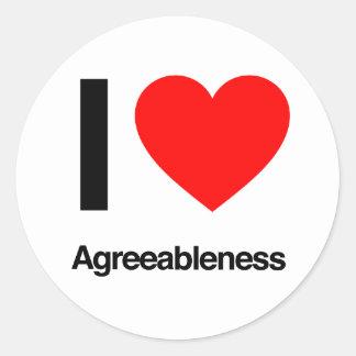 amo agreeableness pegatinas redondas