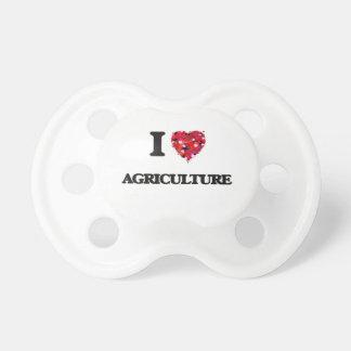 Amo agricultura chupete de bebé