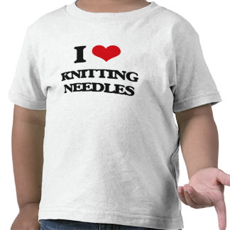 Amo agujas que hacen punto camiseta
