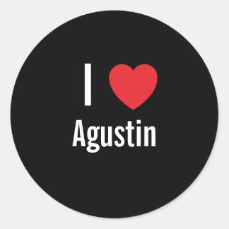 Amo Agustin Pegatinas Redondas