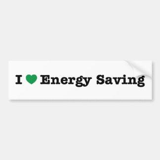 amo ahorro de la energía pegatina para auto