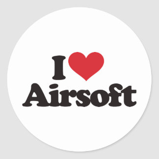 Amo Airsoft Pegatina Redonda