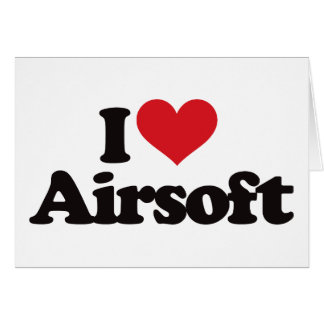 Amo Airsoft Tarjeta De Felicitación