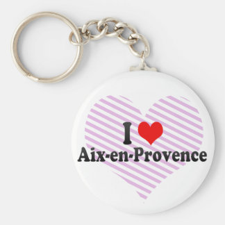 Amo Aix-en-Provence, Francia Llavero Redondo Tipo Pin