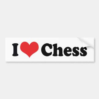 Amo ajedrez del corazón pegatina para auto