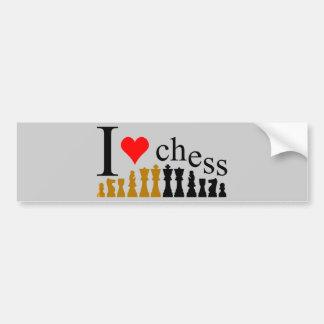 Amo ajedrez pegatina para auto