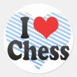 Amo ajedrez pegatinas