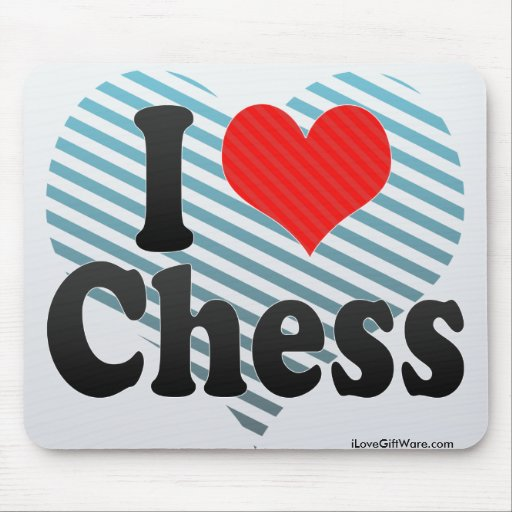 Amo ajedrez tapetes de ratón