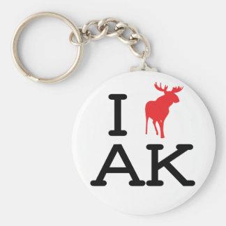 Amo AK - alces - llavero