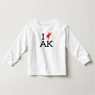 Amo AK - alces - manga larga del niño Camisas