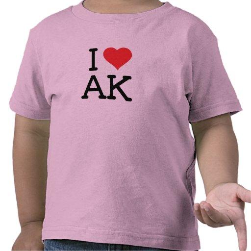 Amo AK - corazón - campanero del niño Camiseta