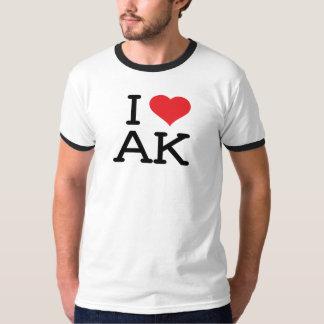 Amo AK - corazón - campanero para hombre Camisas