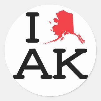 Amo AK - estado - 6 pegatinas de PK Pegatina Redonda