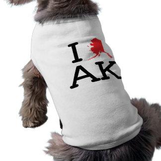 Amo AK - estado - camisa del perro Playera Sin Mangas Para Perro