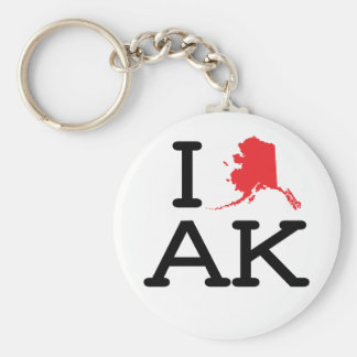 Amo AK - estado - llavero